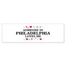 Loves Me in Philadelphia Bumper Bumper Sticker