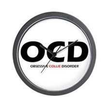 Obsessive Collie Disorder Wall Clock