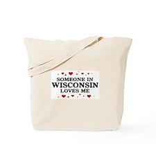Loves Me in Wisconsin Tote Bag