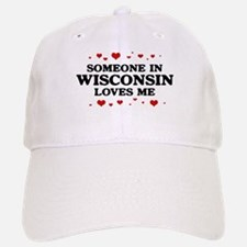 Loves Me in Wisconsin Baseball Baseball Cap