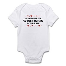 Loves Me in Wisconsin Infant Bodysuit