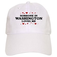 Loves Me in Washington Baseball Baseball Cap