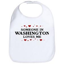 Loves Me in Washington Bib