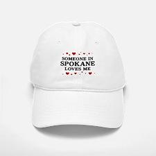 Loves Me in Spokane Baseball Baseball Cap