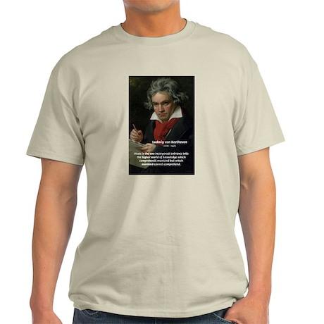 Classical Music: Beethoven Ash Grey T-Shirt
