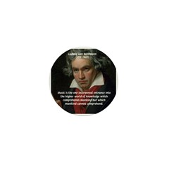 Classical Music: Beethoven Mini Button