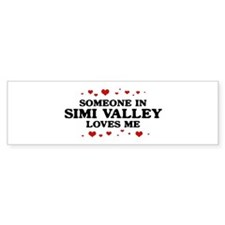 Loves Me in Simi Valley Bumper Bumper Sticker