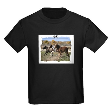 Three Foals Kids Dark T-Shirt
