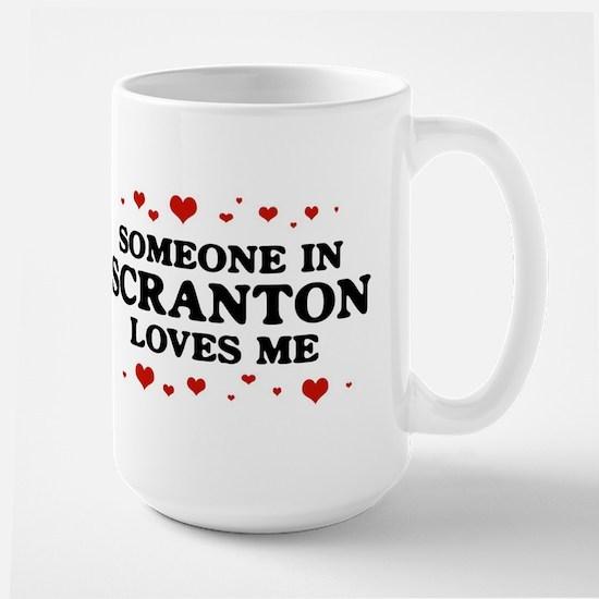 Loves Me in Scranton Large Mug