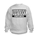 Advisory: American Infidel Kids Sweatshirt