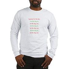 Christmas agenda Long Sleeve T-Shirt