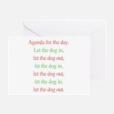 Christmas agenda Greeting Card