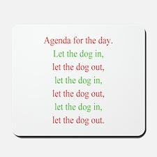 Christmas agenda Mousepad