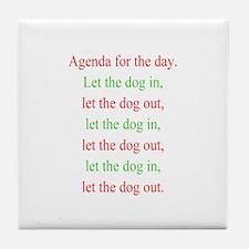 Christmas agenda Tile Coaster