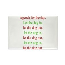 Christmas agenda Rectangle Magnet