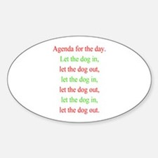Christmas agenda Oval Decal