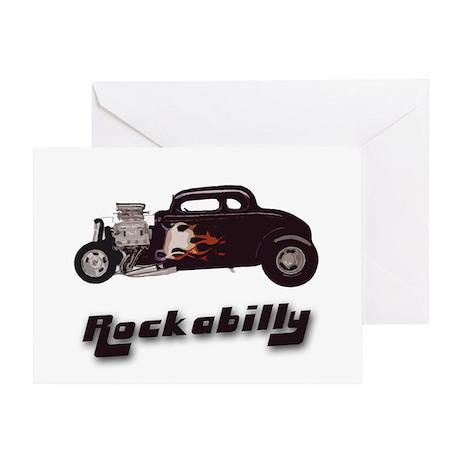 Rockabilly Vintage Hot Rod Greeting Card