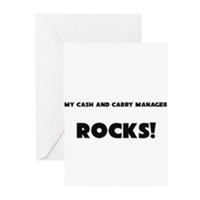 MY Cash And Carry Manager ROCKS! Greeting Cards (P