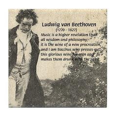 Ludwig van Beethoven Tile Coaster