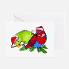 Christmas Parrot Greeting Card