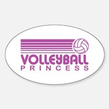 Volleyball Princess Oval Decal
