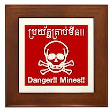 Danger Mines, Cambodia Framed Tile