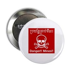"Danger Mines, Cambodia 2.25"" Button (100 pack)"