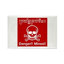 Danger Mines, Cambodia Rectangle Magnet