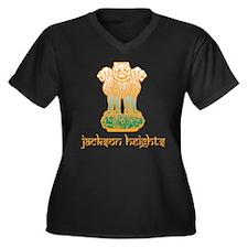 Cute Jackson heights Women's Plus Size V-Neck Dark T-Shirt