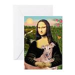 Mona Lisa / Greyhound #1 Greeting Cards (Pk of 20)