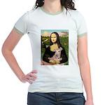 Mona Lisa / Greyhound #1 Jr. Ringer T-Shirt