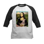 Mona Lisa / Greyhound #1 Kids Baseball Jersey