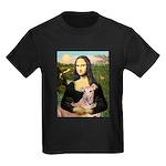 Mona Lisa / Greyhound #1 Kids Dark T-Shirt