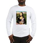 Mona Lisa / Greyhound #1 Long Sleeve T-Shirt