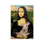Mona Lisa / Greyhound #1 Rectangle Magnet (10 pack