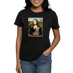 Mona Lisa / Greyhound #1 Women's Dark T-Shirt