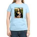 Mona Lisa / Greyhound #1 Women's Light T-Shirt