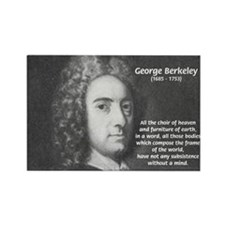 Irish Idealist: George Berkeley Rectangle Magnet