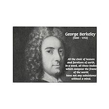 Irish Idealist: George Berkeley Rectangle Magnet (