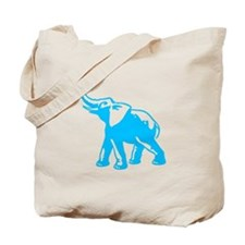 Elephant (Bright Blue) Tote Bag