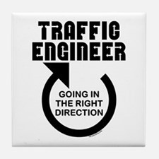 Traffic Engineer Direction Tile Coaster
