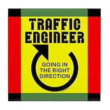 Traffic Engineer Direction Tile Coaster