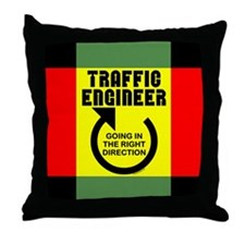 Traffic Engineer Direction Throw Pillow
