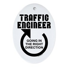 Traffic Engineer Direction Oval Ornament
