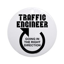 Traffic Engineer Direction Ornament (Round)
