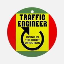 Traffic Engineer Direction Ornament (Round)