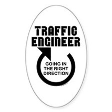 Traffic Engineer Direction Oval Decal