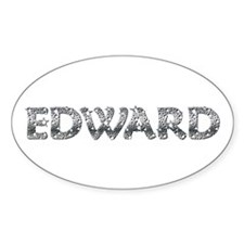 Edward Cullen Sparkle Twilight Oval Decal
