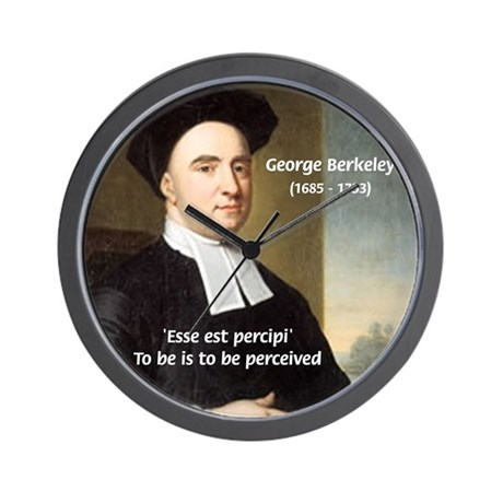 Philosopher: George Berkeley Wall Clock