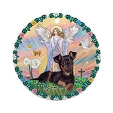 Blessing /Pinscher Ornament (Round)